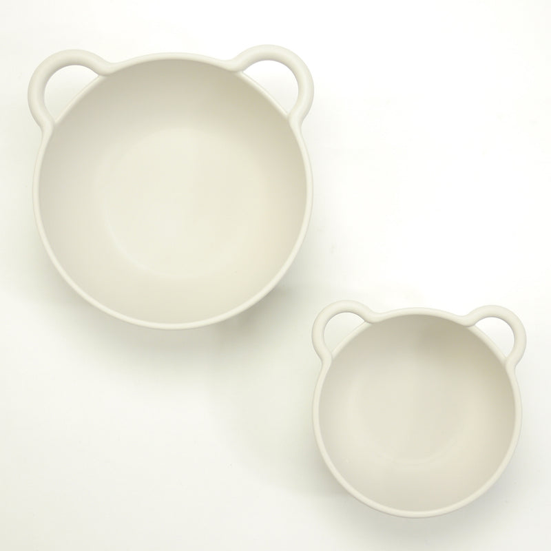 Big bear eco-friendly bowls that are BPA free, top rack dishwasher safe with red silicone ring for babies and kids