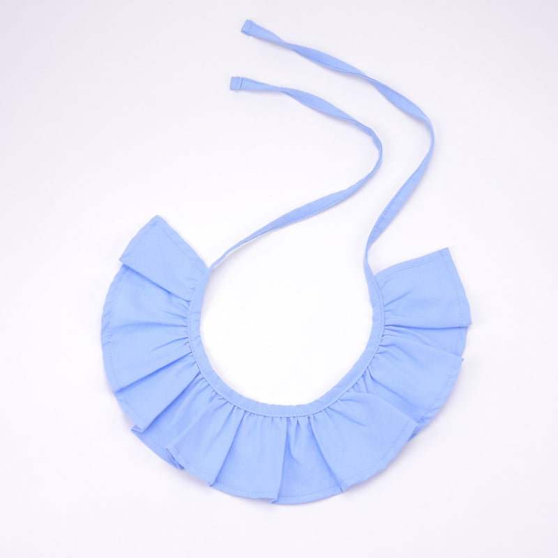 George sky blue cotton ruffle with ties for babies and kids