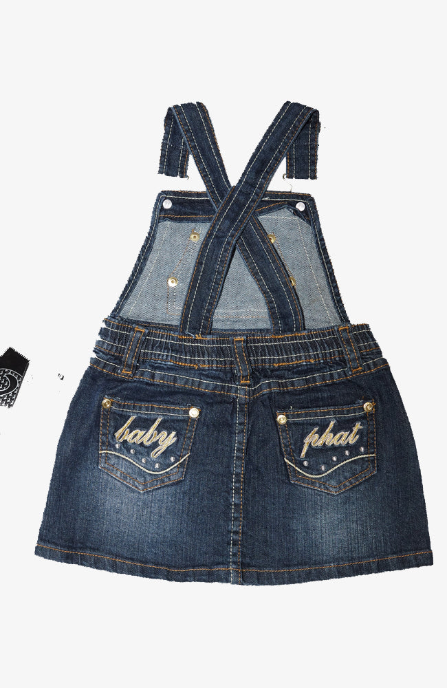 VINTAGE BABY PHAT OVERALL DRESS