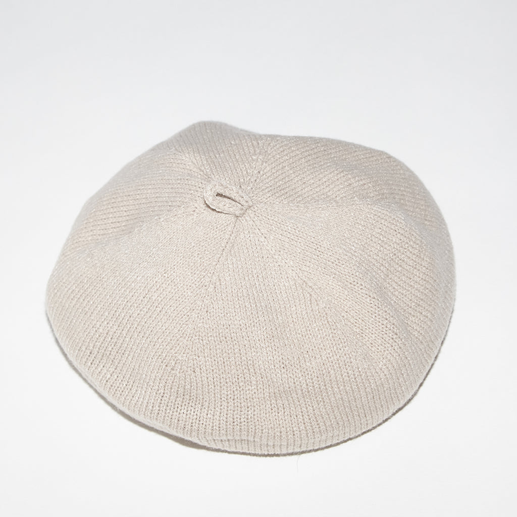 Bien lightweight beige cotton knit beret for babies and kids