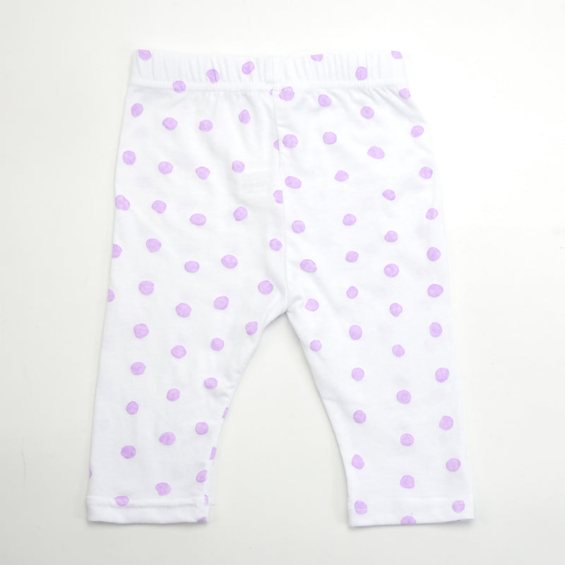 Cleo cropped painted polka dot print leggings for babies and kids
