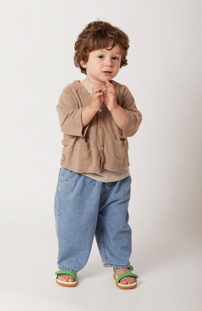 Gino light blue wash relaxed fit denim jeans for babies and kids