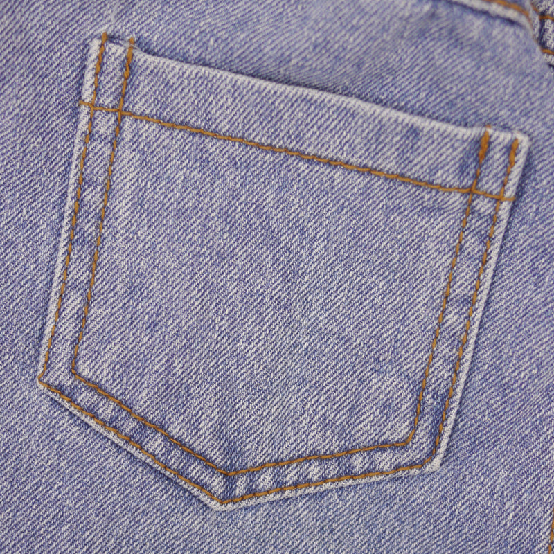 Gino light blue wash relaxed fit denim jeans for babies and kids pocket detail