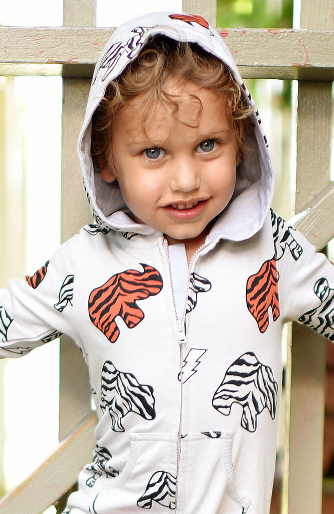 Animal Cookie Print Hoodie in Grey by Ice Cream Castles for Babies and Kids on Baby Kiss Kiss Shop NYC Editorial