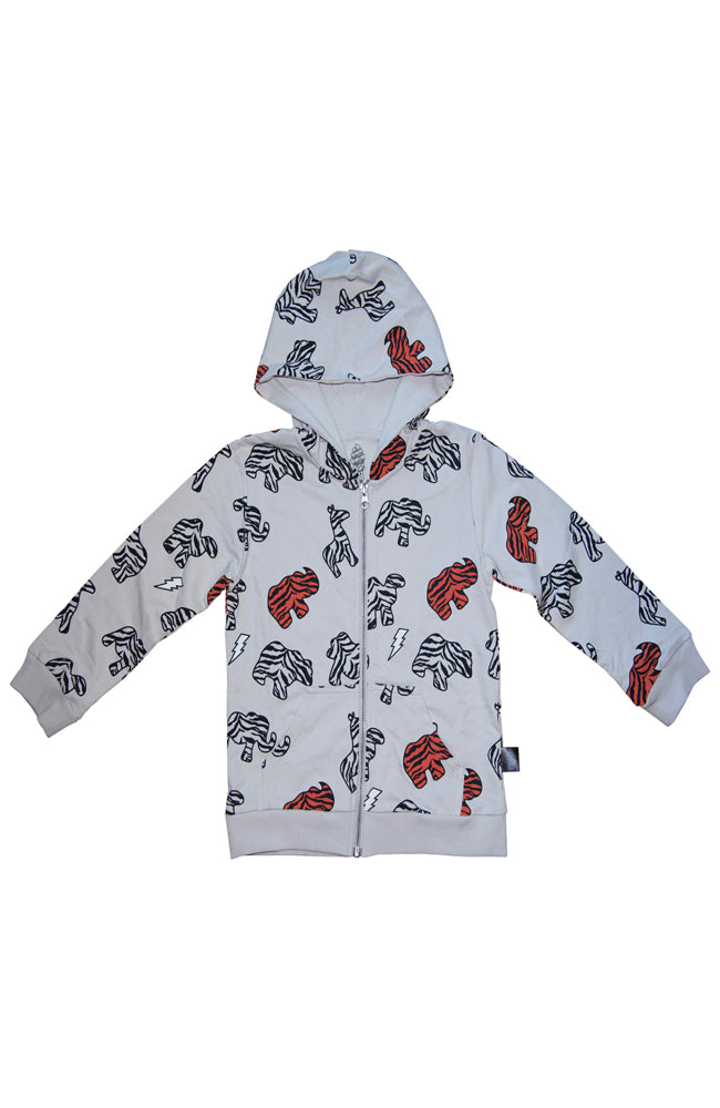 Animal Cookie Print Hoodie in Grey by Ice Cream Castles for Babies and Kids on Baby Kiss Kiss Shop NYC