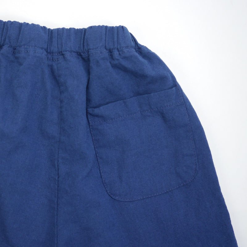 Matteo linen navy relaxed fit pants for babies and kids back pocket detail