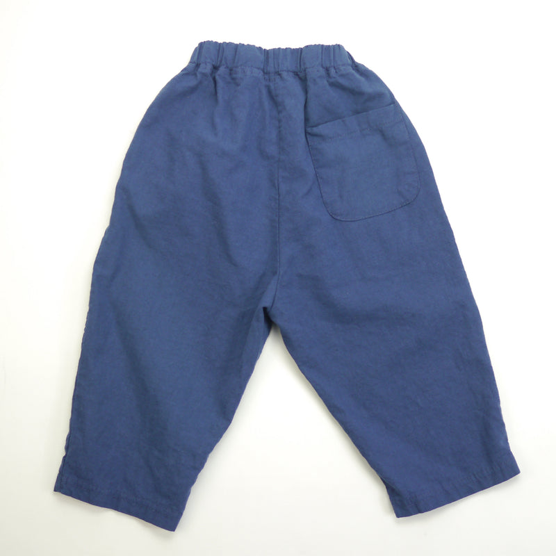 Matteo linen navy relaxed fit pants for babies and kids back view