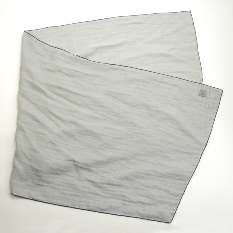 Santiago twill grey rectangular scarf for kids and mom folded view