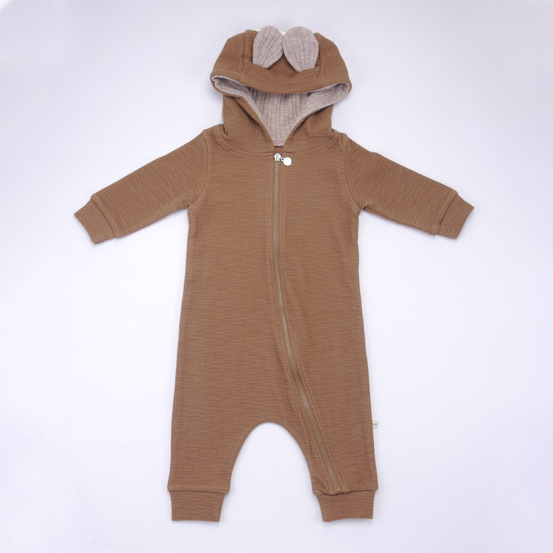 Thom baby bambi deer zipper onesie jumpsuit for babies front view