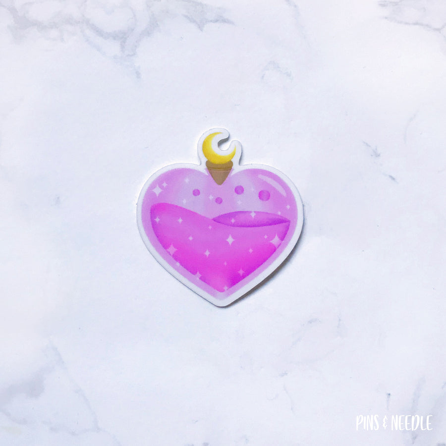 Moon Love Potion Sticker - Transparent Sticker