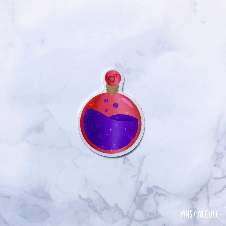 Mars Potion Sticker - Transparent Sticker