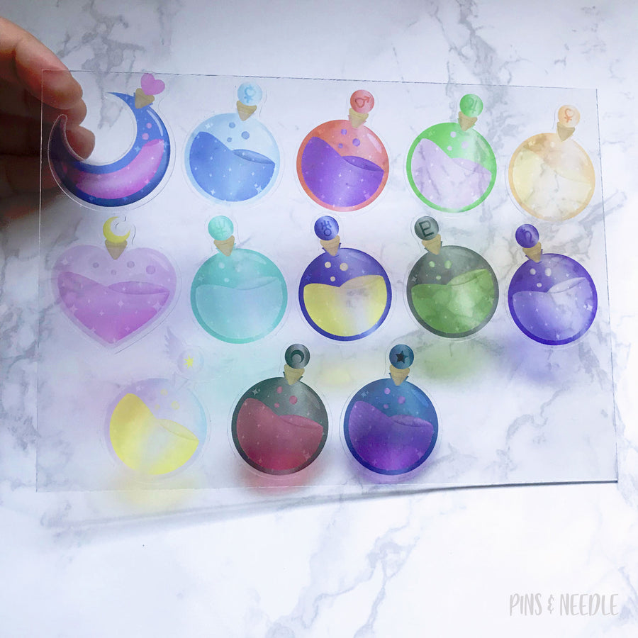 Moon Princess Potion Sticker - Transparent Sticker