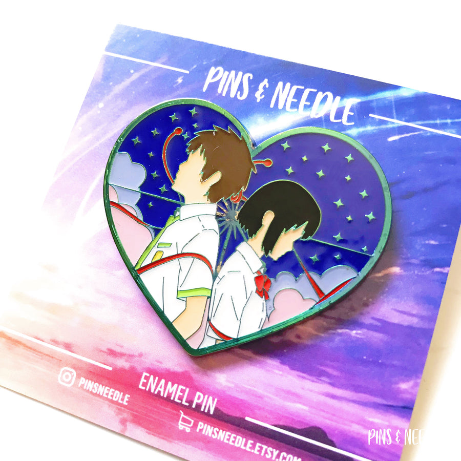 (V1) Thread of Fate - Non-Glitter | Rainbow Soft Enamel Pin