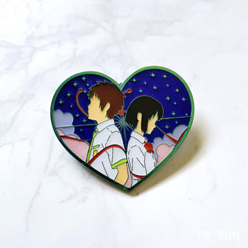 Thread of Fate - Non-Glitter - Rainbow Soft Enamel Pin - SECONDS GRADE