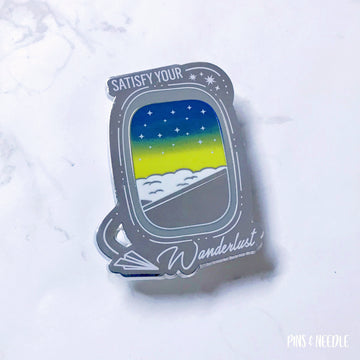 Satisfy Your Wanderlust - Dawn - Hard Enamel Pin