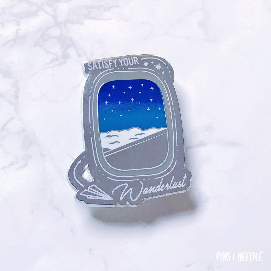 Satisfy Your Wanderlust - Night - Hard Enamel Pin