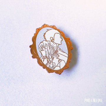 Lovers Missed - Rose Gold: Murdered Out White | Hard Enamel Pin