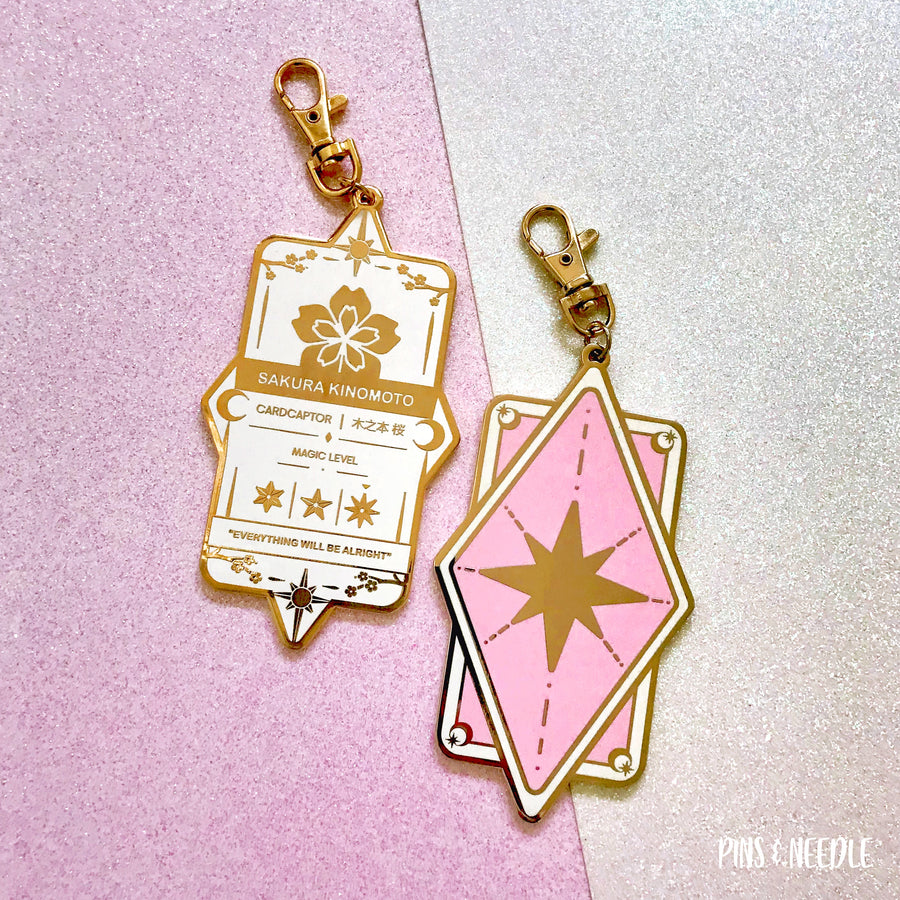 Sakura Badge - White/Pink | Bag Charm - B/C GRADE