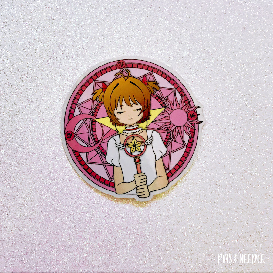 Love Sakura Wand | Vinyl Sticker