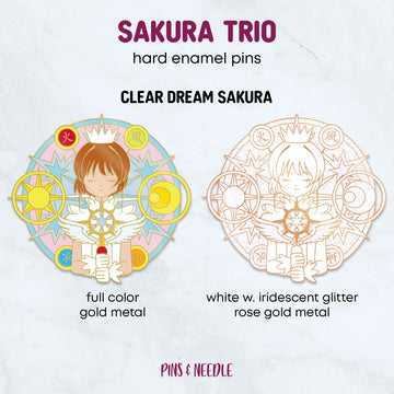 **PRE-ORDER** Clear Dream Sakura | Hard Enamel Pin