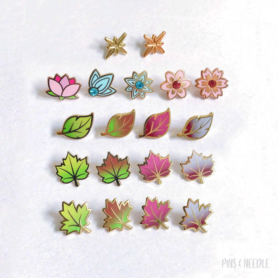 Seasons - Set of 19 | Mini Enamel Pins