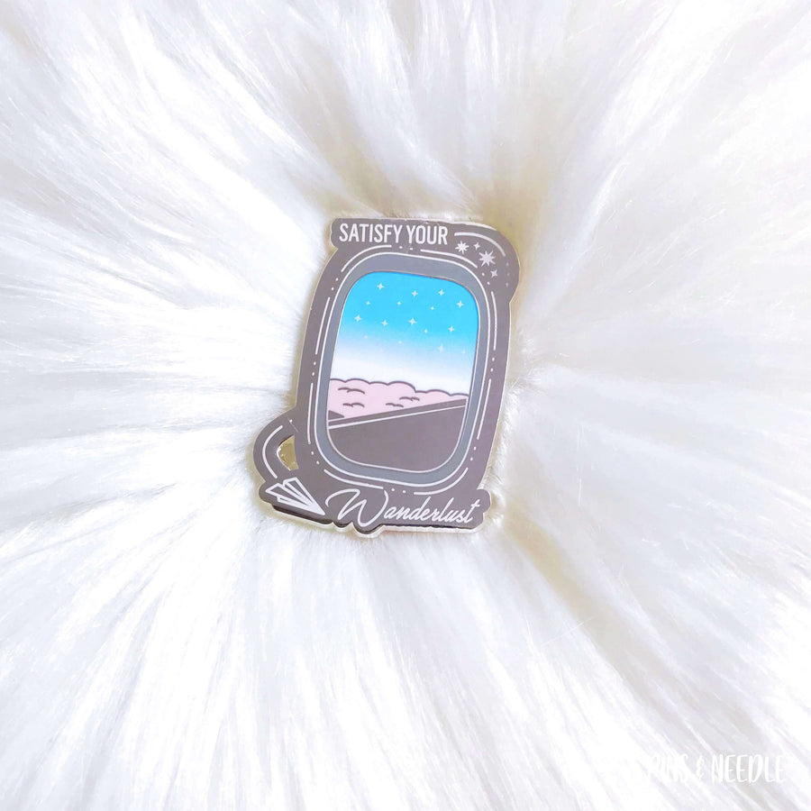 Satisfy Your Wanderlust - Cotton Candy | Hard Enamel Pin