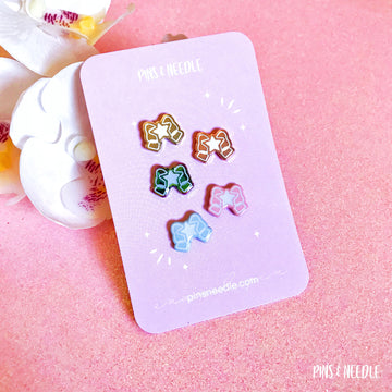 Star Bow | Mini Enamel Pins