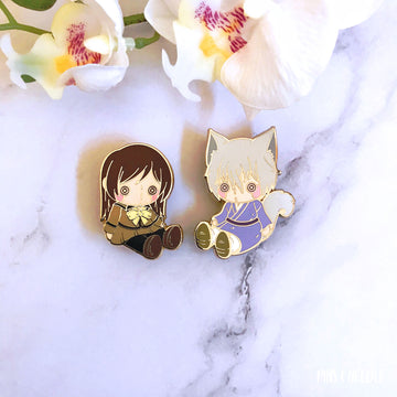 KamiKiss Couple Plushie Set | Hard Enamel Pins