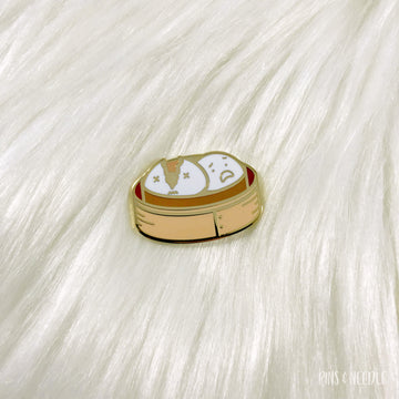 Ripped Custard Bao - Hard Enamel Pin