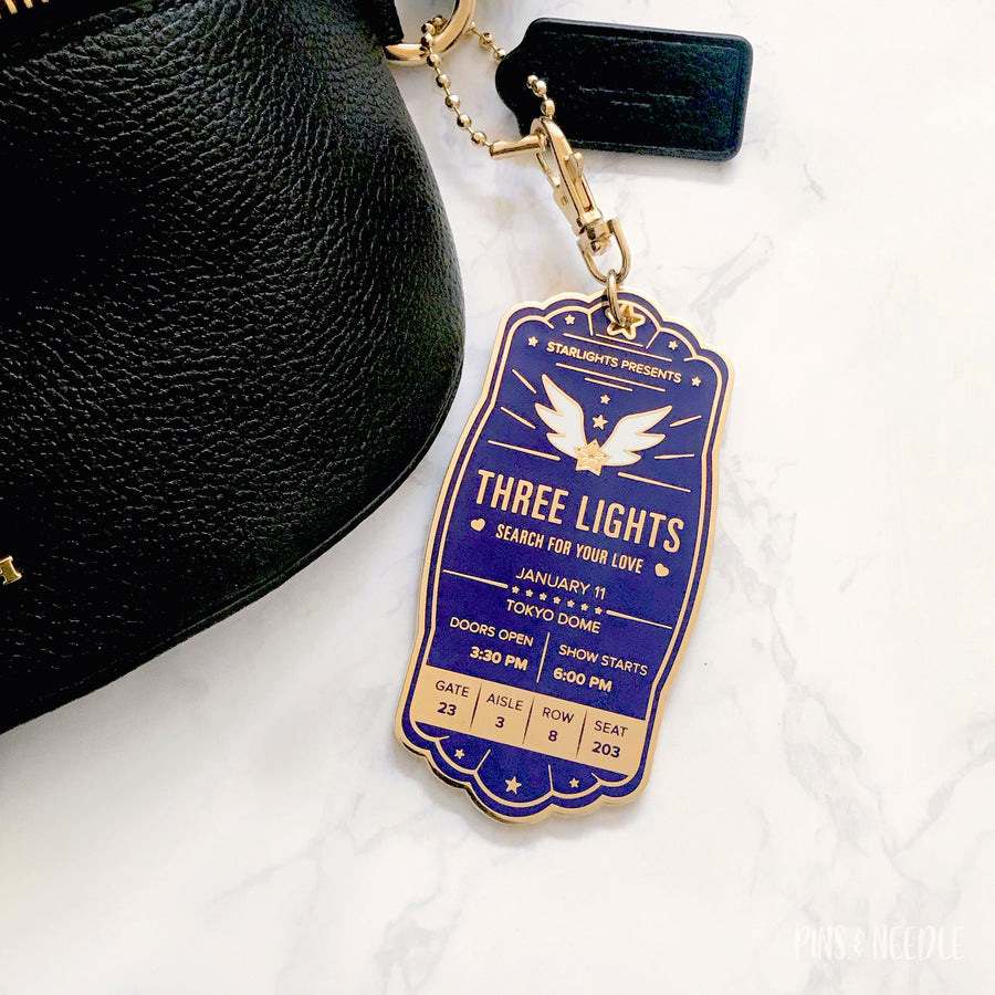 **NECESSARY PRE-ORDER** Starlights Concert Ticket - Hard Enamel Keychain