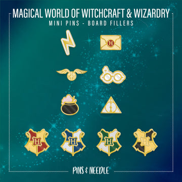 **PRE-ORDER** Magical Wizardry & Witchcraft - Mini Enamel Pins