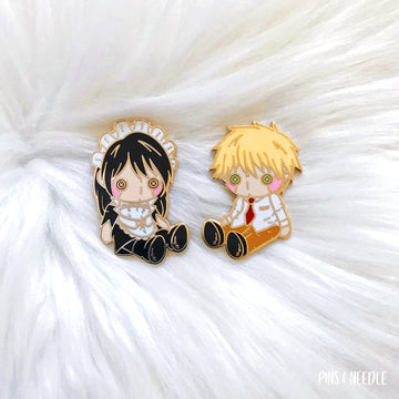 Usaki Couple Plushie Set | Hard Enamel Pins