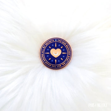 Shining Heart - Night Blue Variant - Hard Enamel Pin