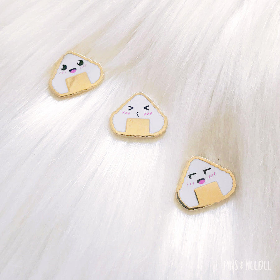 Emoticon Onigiri Board Fillers | Hard Enamel Pin