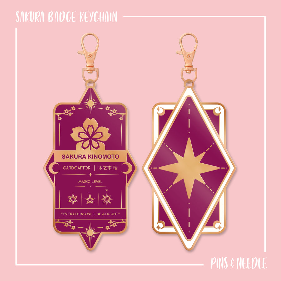 Sakura Badge - Keychain