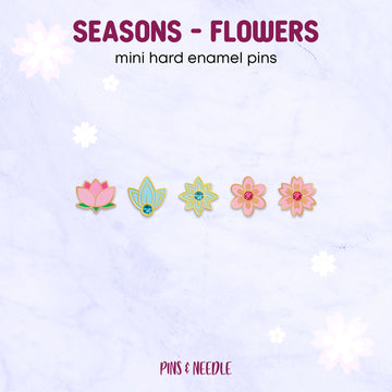 **PRE-ORDER** Seasons - Flowers | Mini Enamel Pins