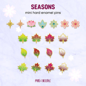 **PRE-ORDER** Seasons - Set of 19 | Mini Enamel Pins