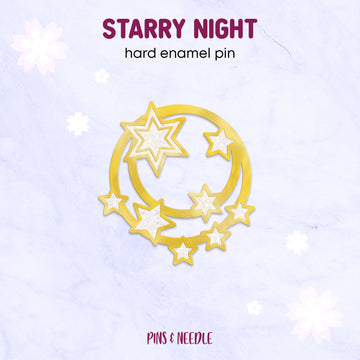 **PRE-ORDER** Starry Night | Hard Enamel Pin