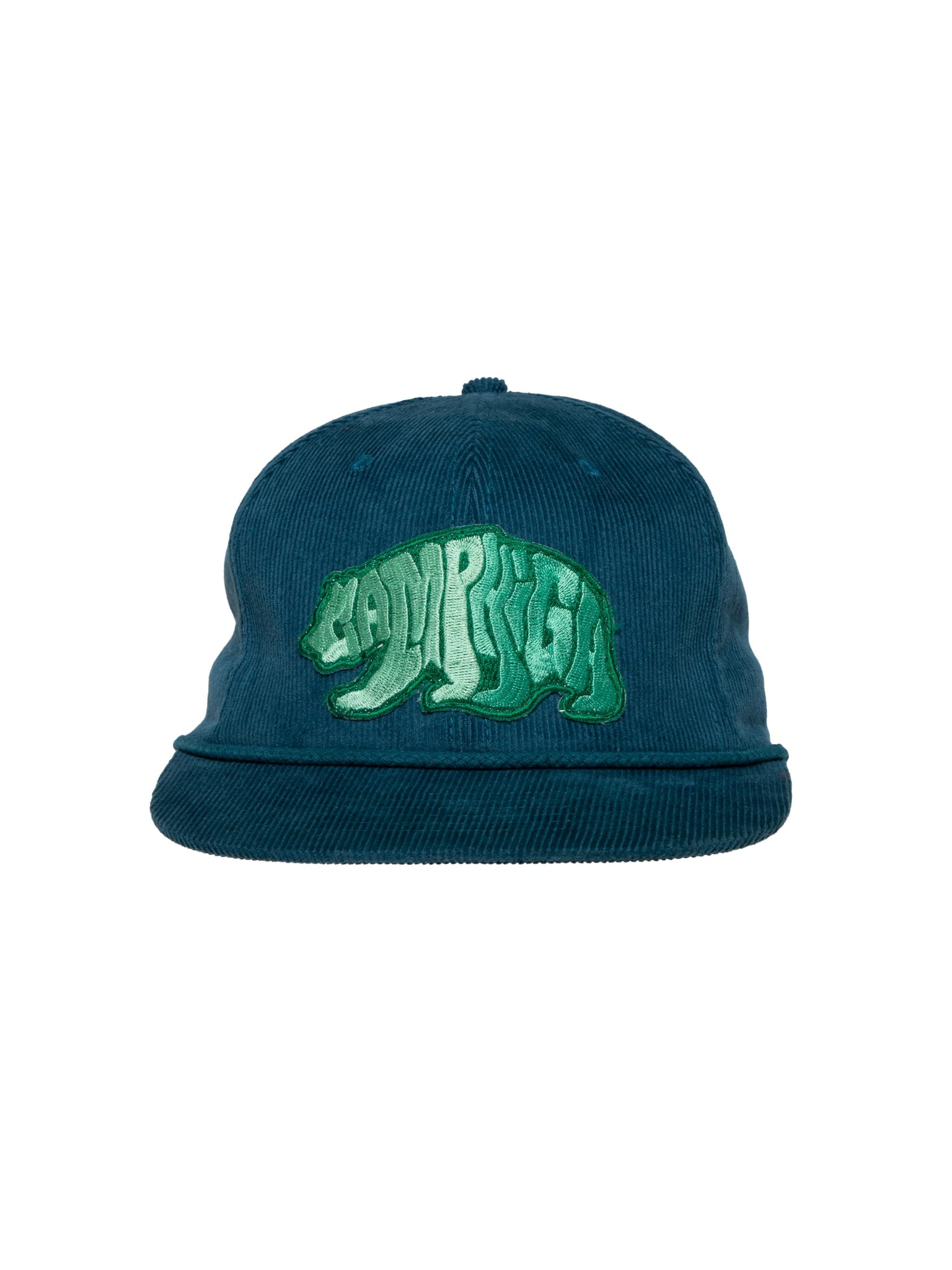 Camp High Blue Cali Bear Cord Cap