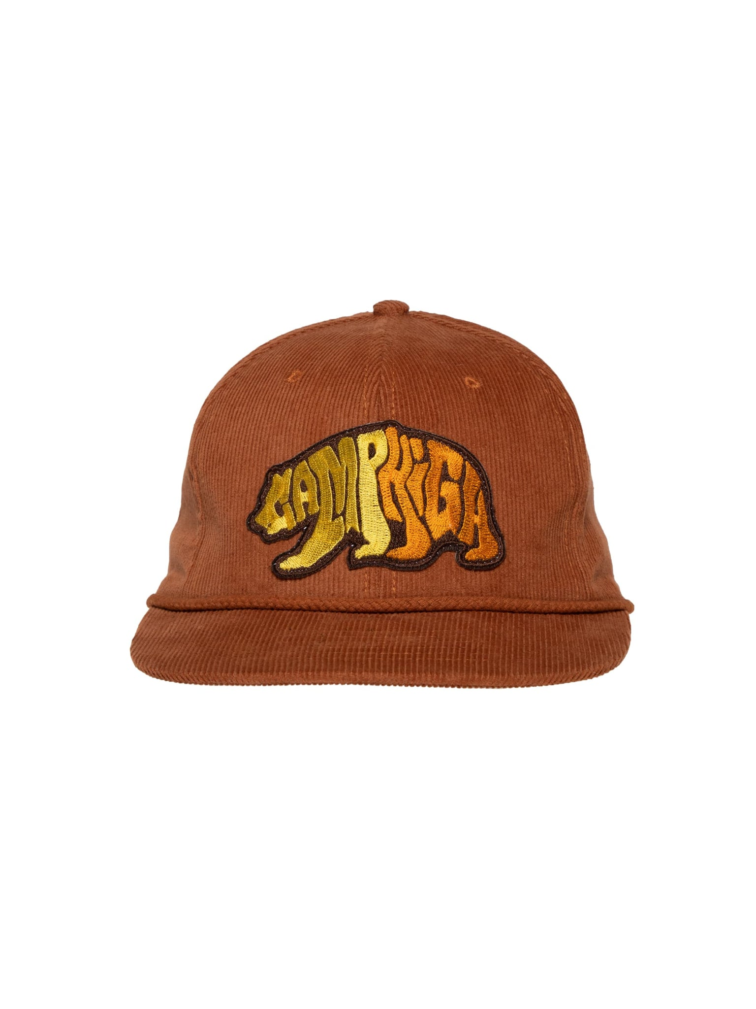 Camp High Brown Cali Bear Cord Cap
