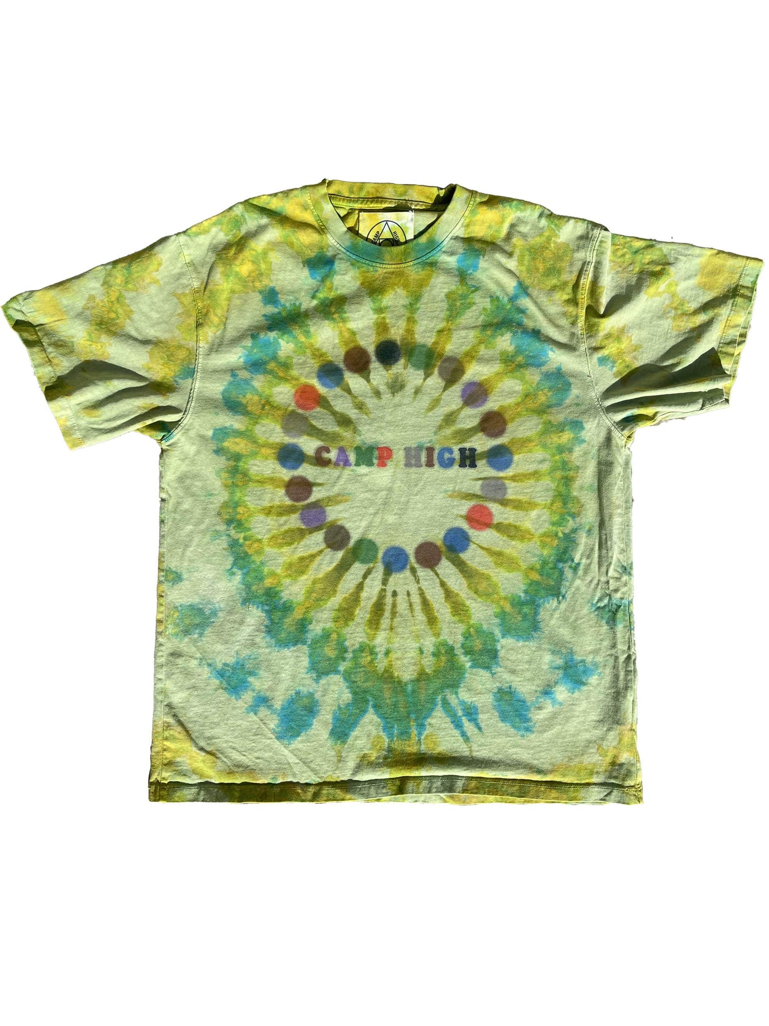 Camp High Hand Dyed Kaleidoscope: Green Dream