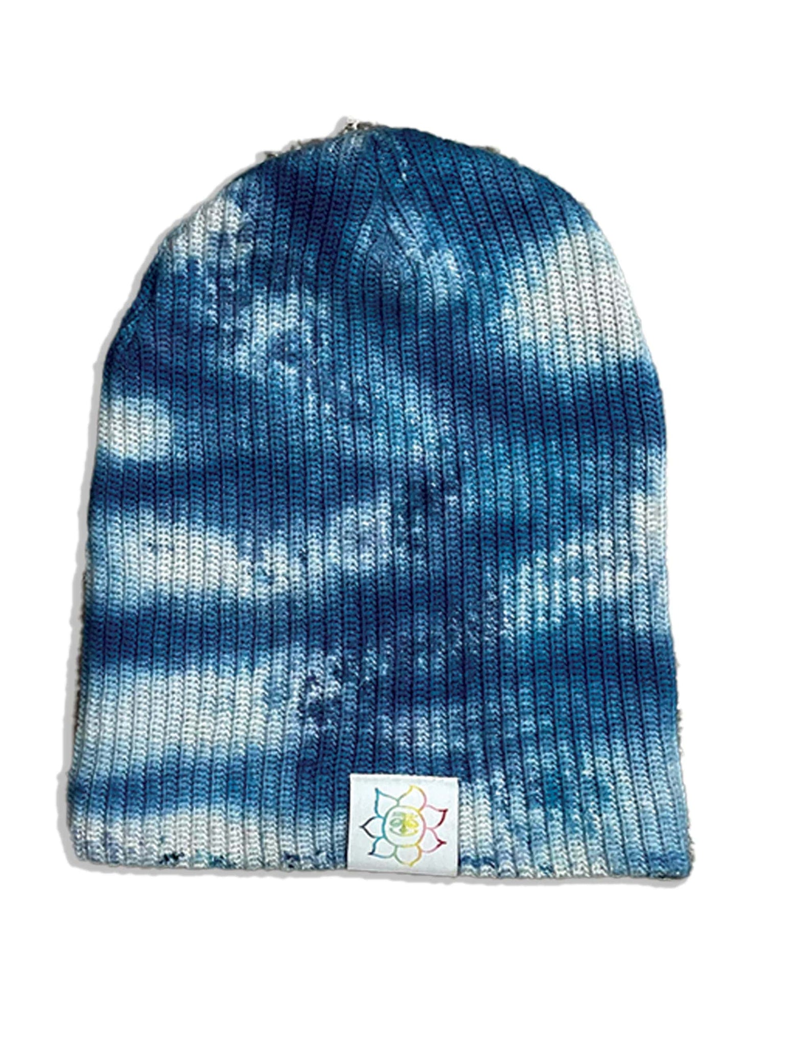 Camp High Indigo Ice dyed Beanie