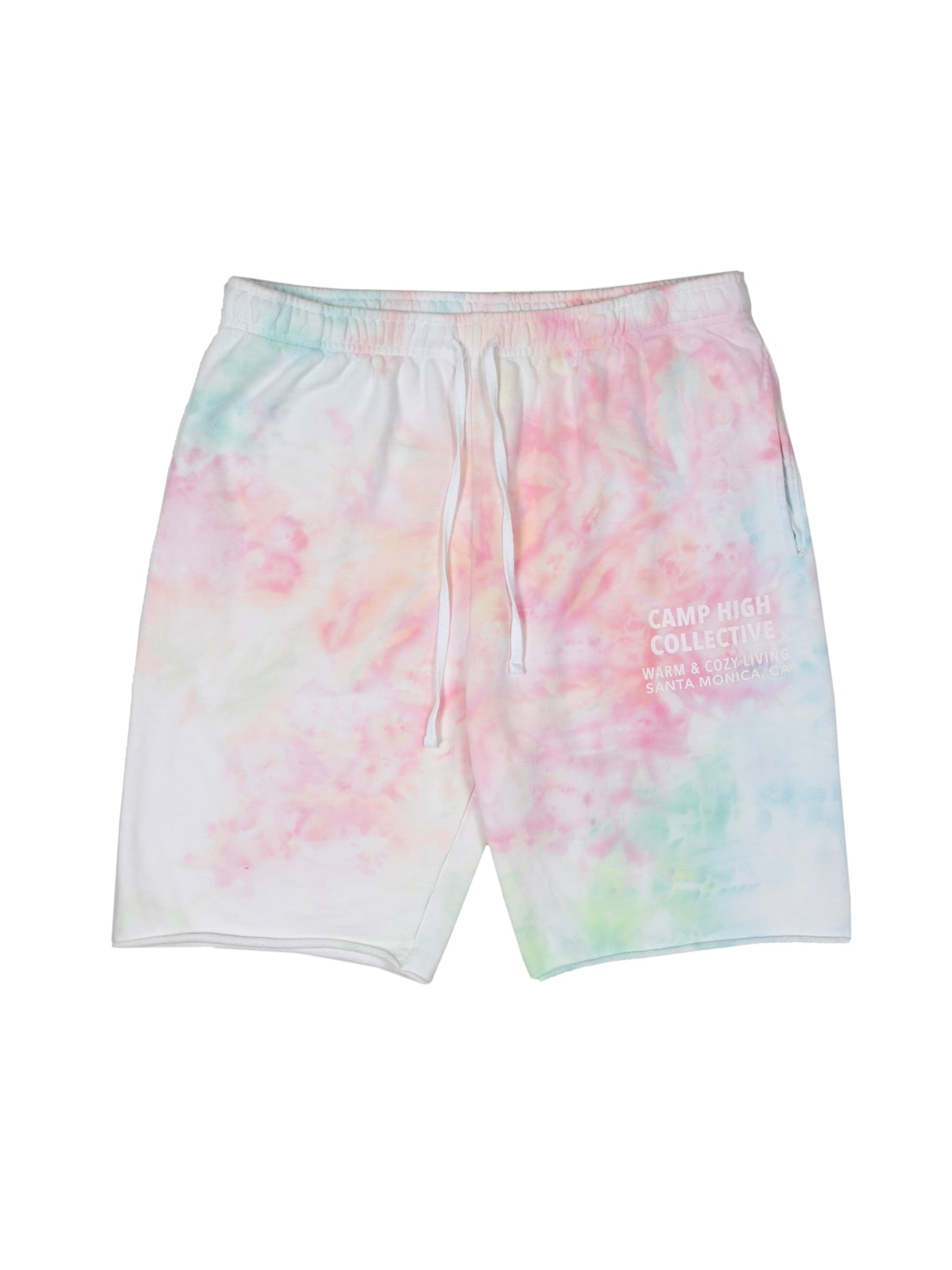 Camp High Small Circle Ice Dye Cut off short