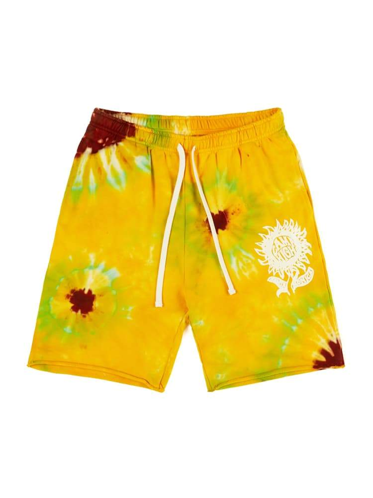 Camp High Small Sunflower Cutoff Shorts