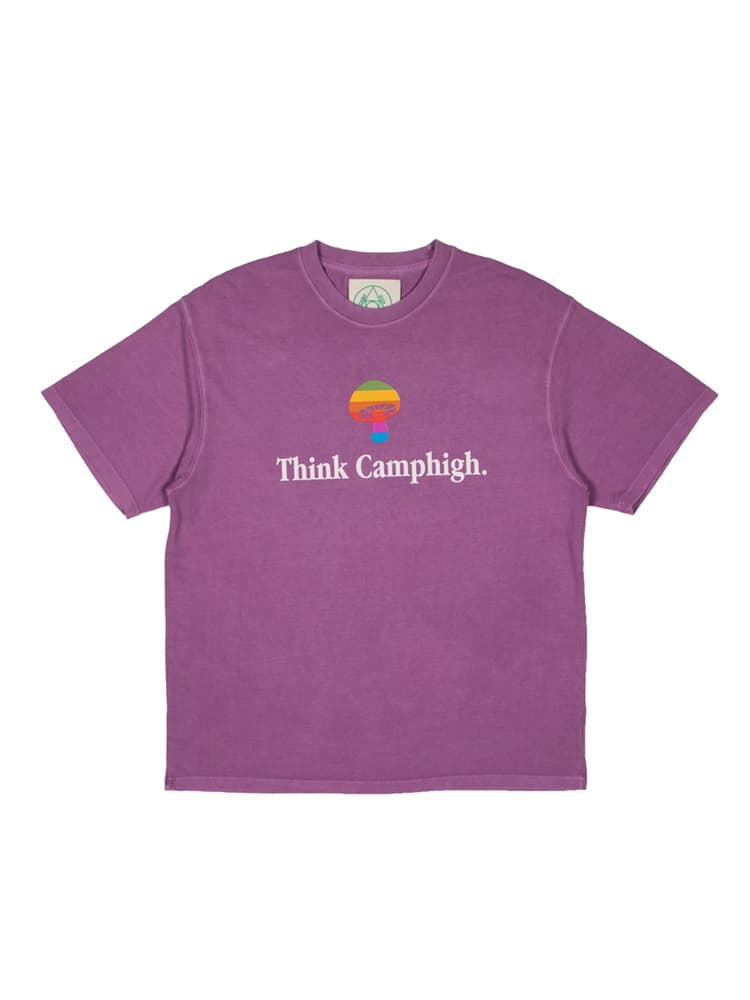 Camp High Think Camphigh Short Sleeve T-Shirt Grape