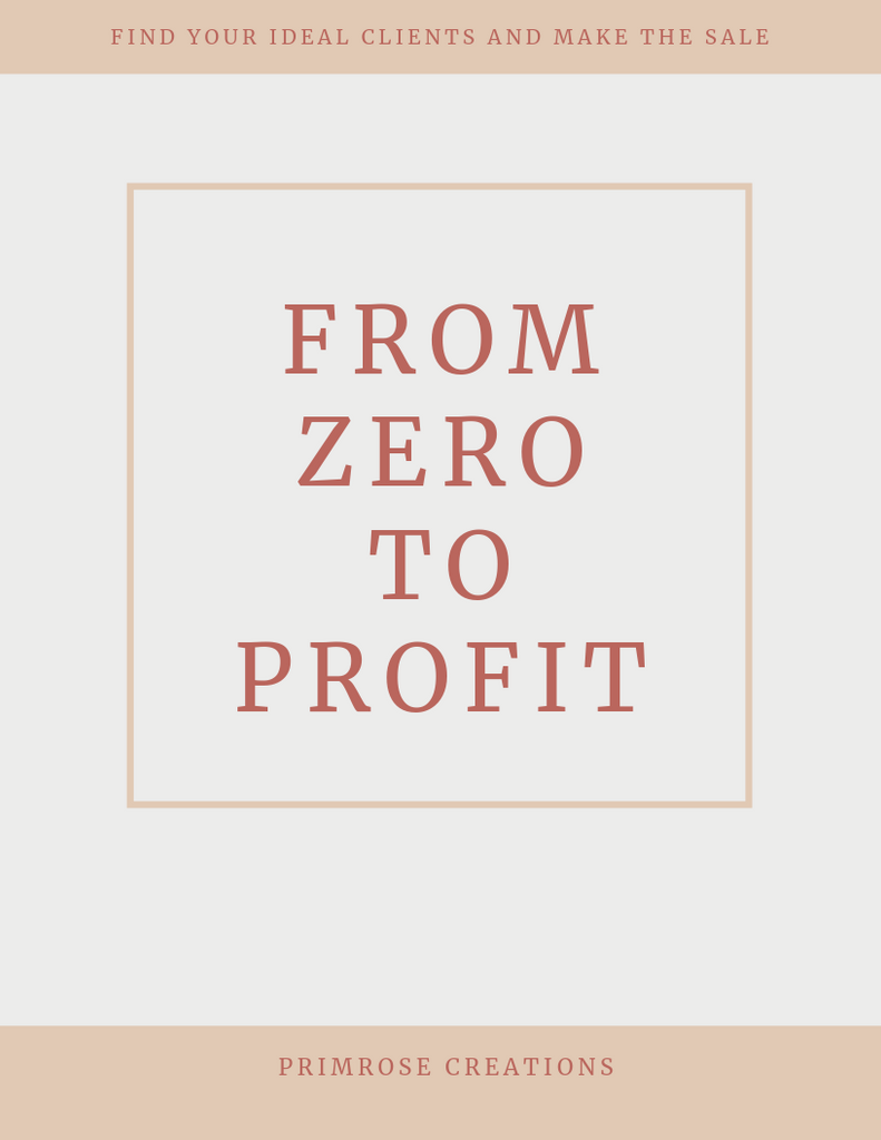 From Zero to Profit