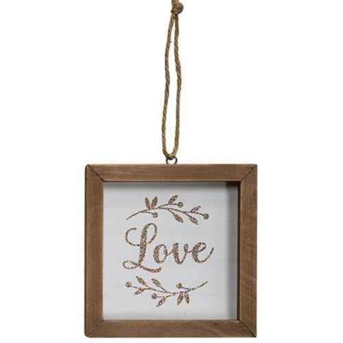 Love Frame Ornament