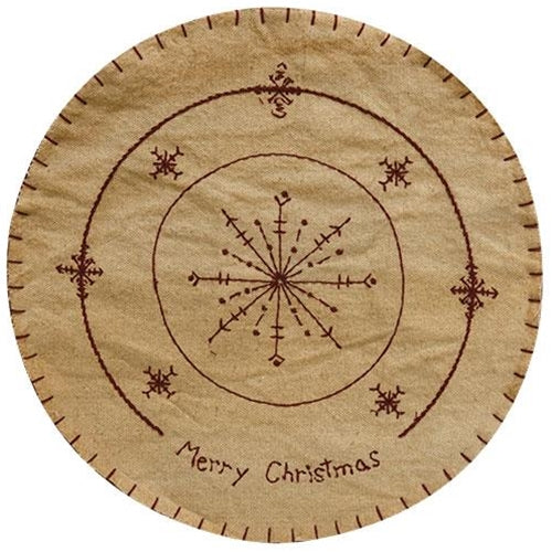 Merry Christmas Candle Mat