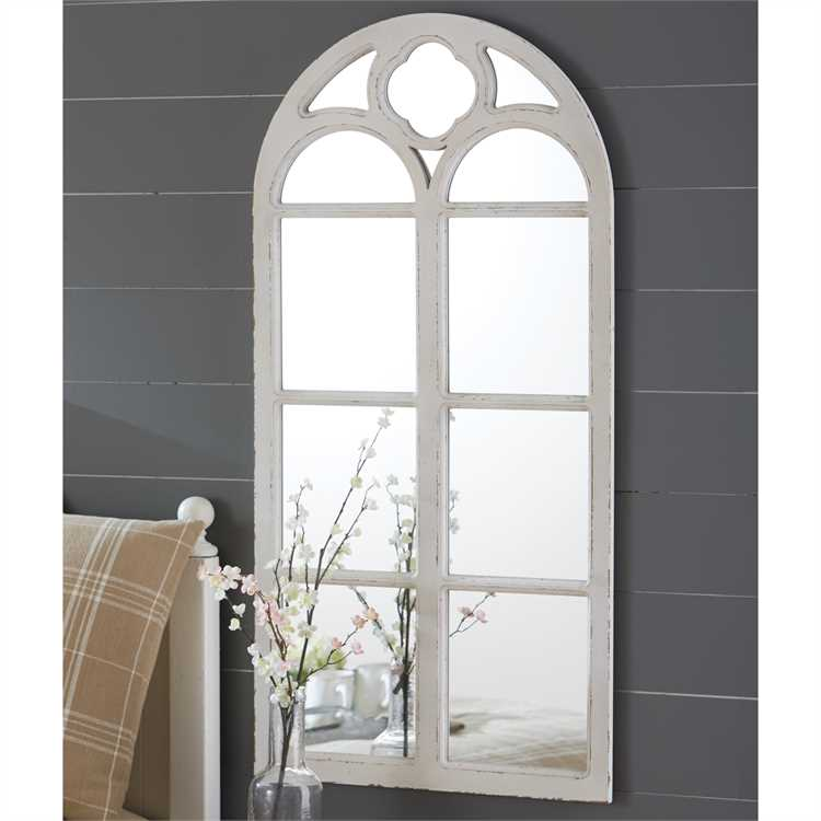 Distressed White Wood Window Mirror - Primrose Creations Shop