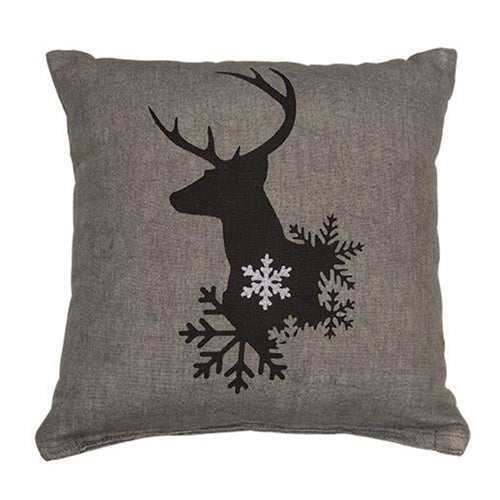 Winter Reindeer Pillow